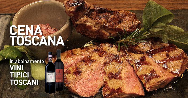 La vera carne di manzo e i prodotti tipici toscani li trovi al Fuorirotta con la Cena Toscana!