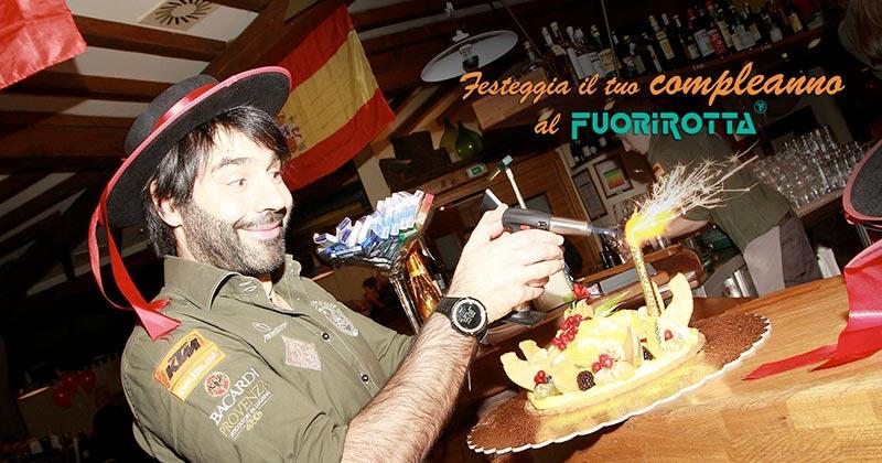Festeggia il compleanno al locale Fuorirotta! Soprese e tanto divertimento senza allontanarti da Bergamo!