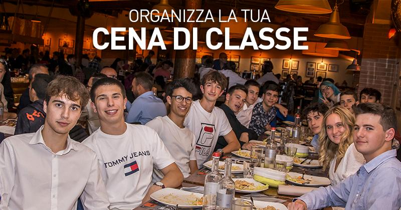 ORGANIZZA LA CENA DI CLASSE AL FUORIROTTA!